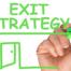 Hand drawing on a board exit for your business