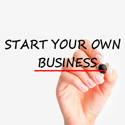 Hand drawing start your own business when you are new to buy a business.